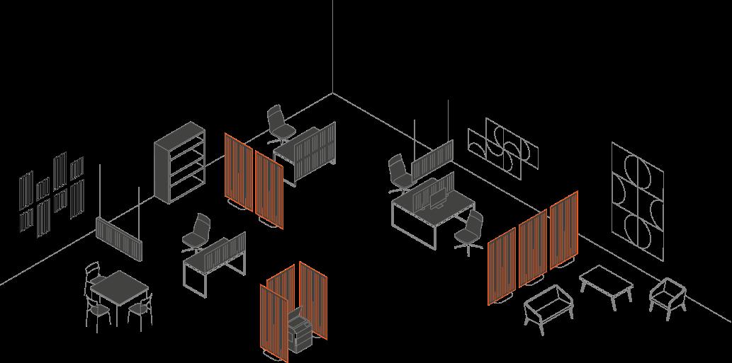 Wolnostojąca ścianka akustyczna CELL