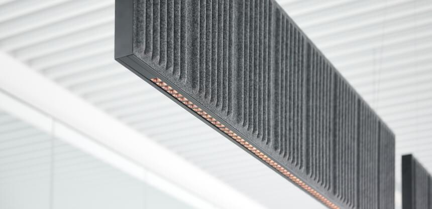 Akustyczne panele sufitowe LED