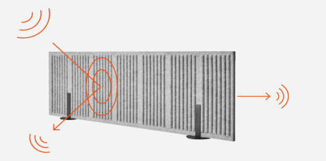 Akustyczne panele naszafkowe CELL